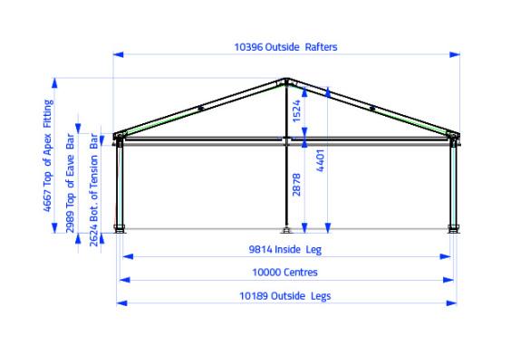 10m x 20m Gable End | baytex - 1
