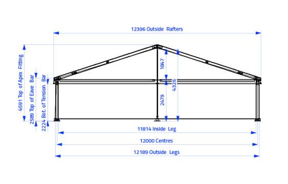 12m x 10m Gable End | Baytex - 1