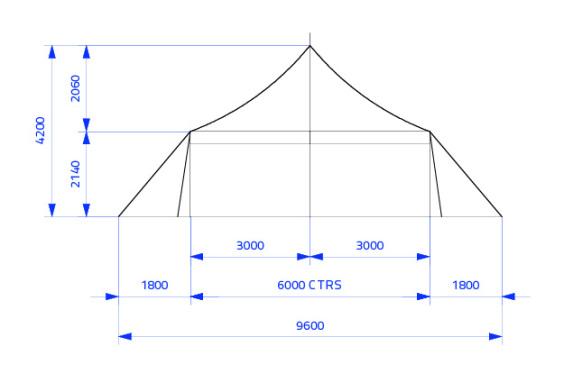 6m x 6m Electron - 2 piece roof | baytex - 0