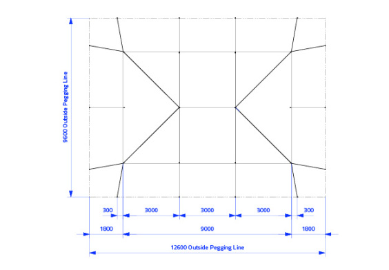 6m x 9m Electron - 3 piece roof | Baytex - 0