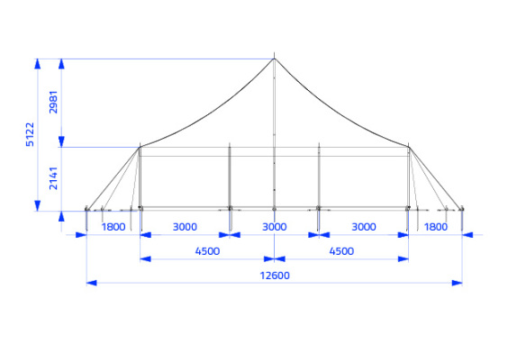 9m x 9m Electron - 2 piece roof | Baytex - 1