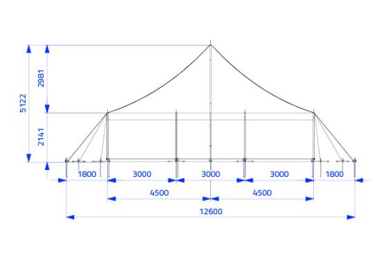 9m x 15m Electron - 3 piece roof | Baytex - 1