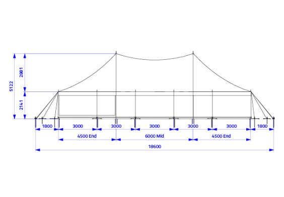 9m x 15m Electron - 3 piece roof | Baytex - 2