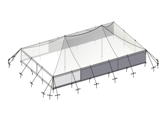 9m x 15m Electron - 3 piece roof | Baytex - 3