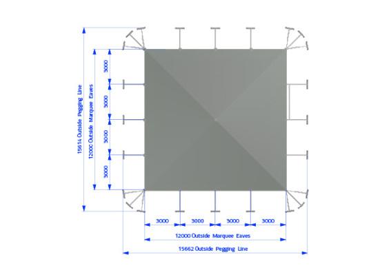 12m x 12m Electron - 2 piece roof | Baytex - 0