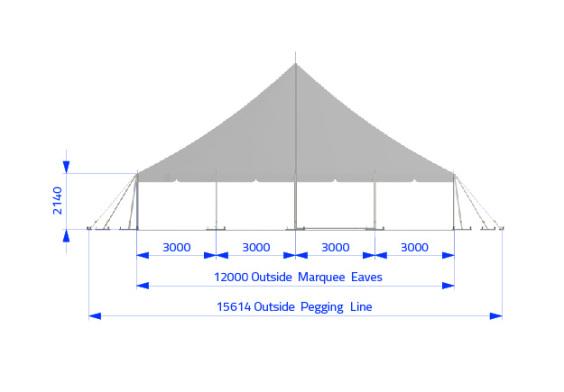 12m x 12m Electron - 2 piece roof | Baytex - 1