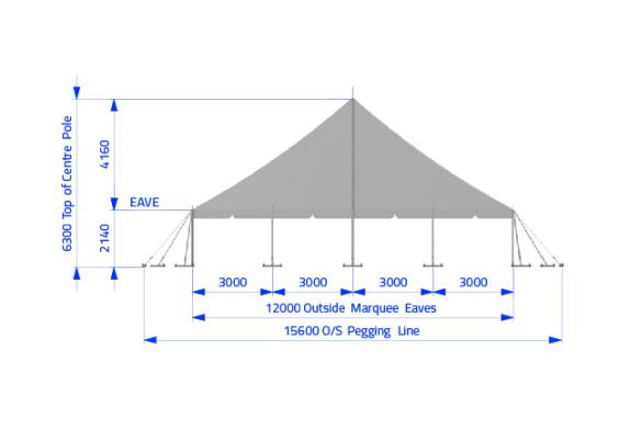 12m x 12m Electron - 2 piece roof | Baytex - 2