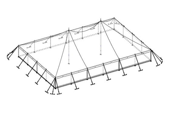 12m x 18m Electron - 3 piece roof | Baytex - 3