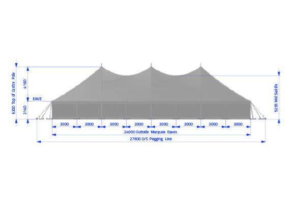 12m x 24m Electron - 4 piece roof | Baytex - 2