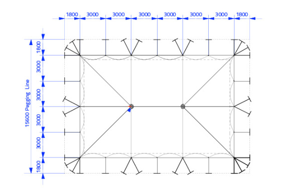 18m x 12m Electron - 2 piece roof | Baytex - 0