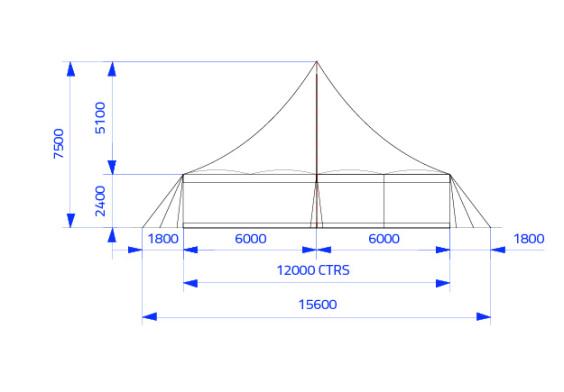 18m x 12m Electron - 2 piece roof | Baytex - 2