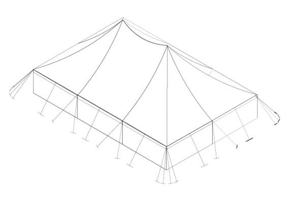 18m x 12m Electron - 2 piece roof | Baytex - 3