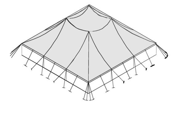 18m x 18m Electron - 3 piece roof | Baytex - 3
