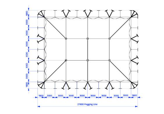 18m x 24m Electron - 4 piece roof | Baytex - 0