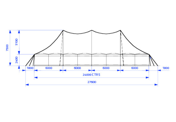 18m x 24m Electron - 4 piece roof | Baytex - 2