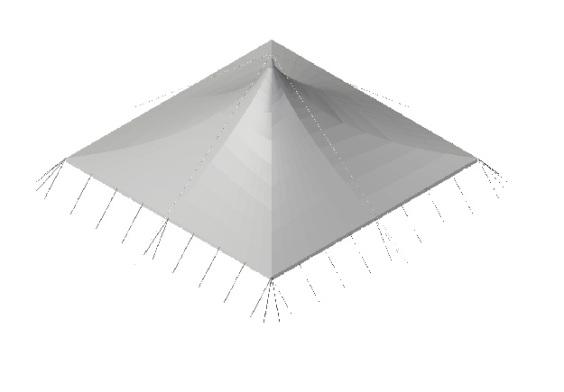 20m x 20m Electron - 2 piece roof | Baytex - 3