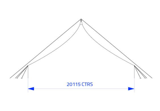 20m x 30m Electron - 3 piece roof | baytex - 1