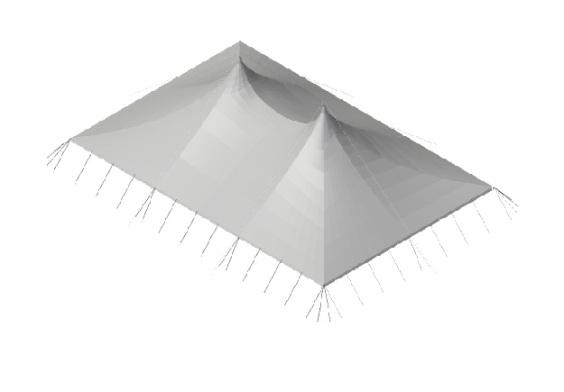 20m x 30m Electron - 3 piece roof | baytex - 3