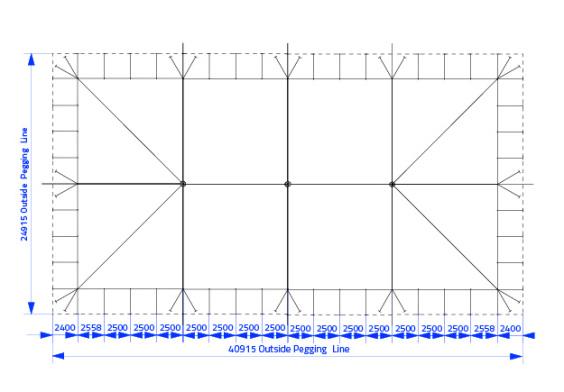 20m x 40m Electron - 4 piece roof | baytex - 0