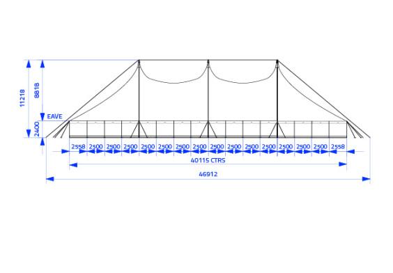 20m x 40m Electron - 4 piece roof | baytex - 2