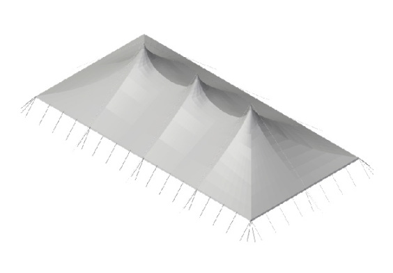 20m x 40m Electron - 4 piece roof | baytex - 3