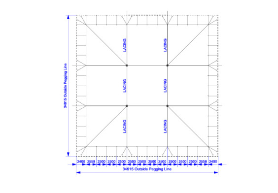30m x 30m Electron - 3 piece roof | Baytex - 0