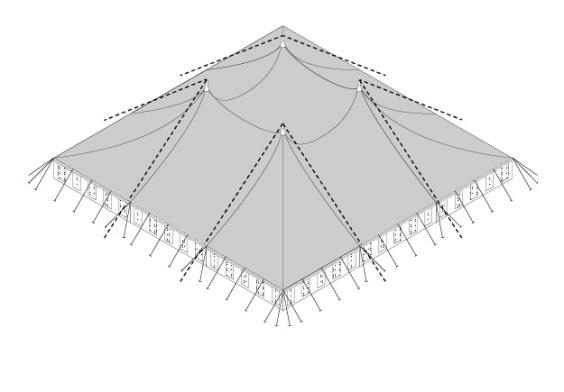 30m x 30m Electron - 3 piece roof | baytex - 3