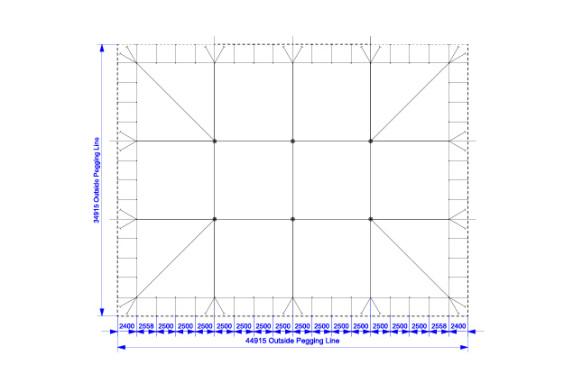 30m x 40m Electron - 4 piece roof | baytex - 0