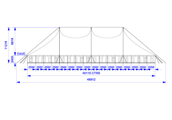 30m x 40m Electron - 4 piece roof | baytex - 2