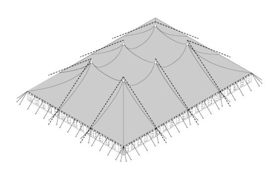 30m x 40m Electron - 4 piece roof | Baytex - 3