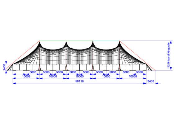 30m x 50m Electron - 4 piece roof | Baytex - 2