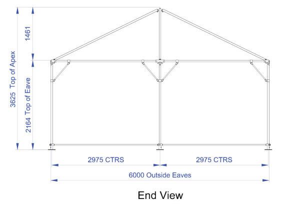 6m x 12m Hip End   Baytex - 2