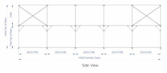 9m x 15m Gable End | Baytex - 1