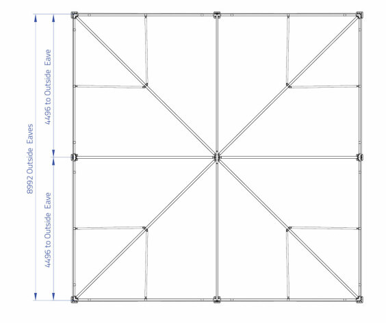 9m x 9m Hip End   Baytex - 0
