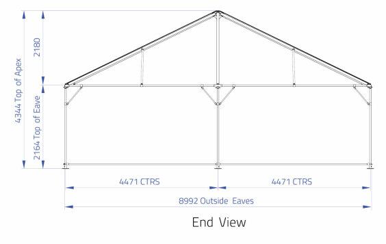 9m x 12m Hip End   Baytex - 2
