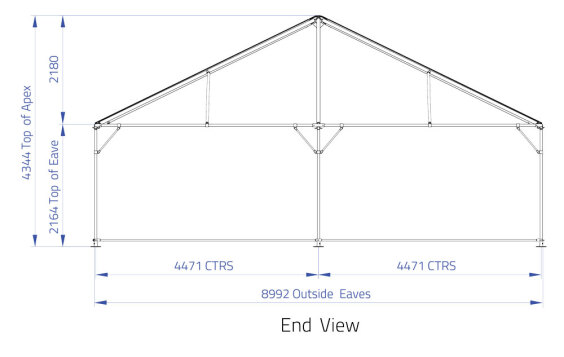 9m x 15m Hip End | Baytex - 2