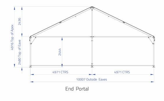 10m x 25m Gable End | Baytex - 2