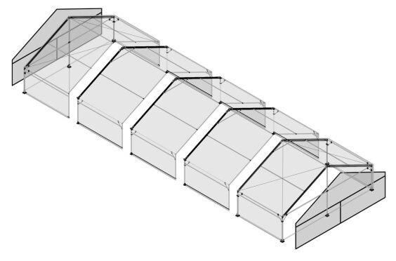 10m x 25m Gable End | Baytex - 3