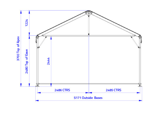 Clipframe 5m Series Gable End only | Baytex - 0