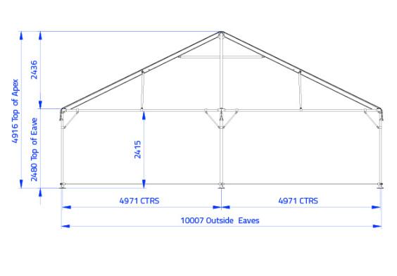 Clipframe 10m Series Gable End | Baytex - 0